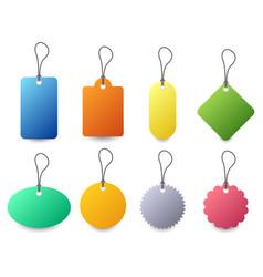 tag label badge set a set colorful tag vector image