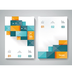 template design with 3d elements vector image