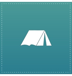 Tourist tent flat icon vector image