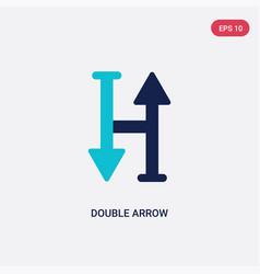 Two color double arrow icon from arrows concept vector