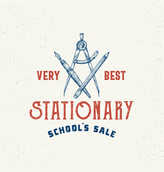 very best school stationary abstract sign vector image