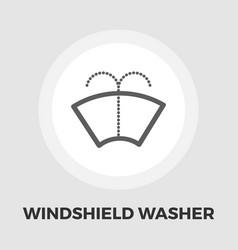 Wiper icon flat vector