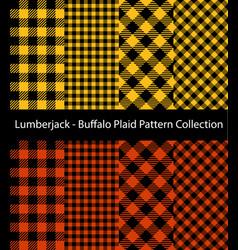 yellow and orange lumberjack collection vector image