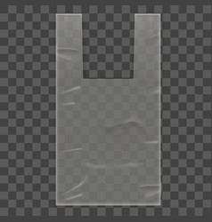 disposable plastic bag package on transparent vector image