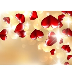 Hearts And Valentins Day Card vector image