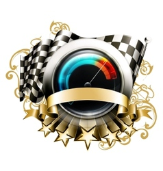Racing emblem vector image