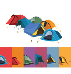 set of color tents vector image vector image