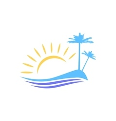 The symbolic image of the island vector image vector image