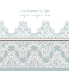 vintage luxury lace background with vector image vector image