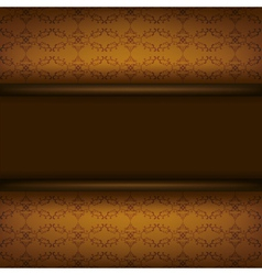 Vintage ornamental brown background with board vector image vector image