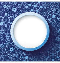 Abstract winter frame with decorative snowflakes vector image vector image