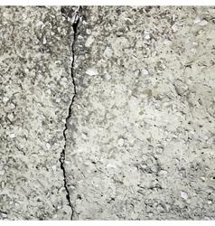 concrete crack background texture vector image