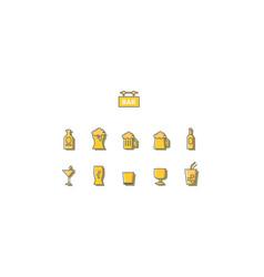 drink bar vector image vector image