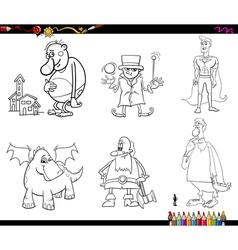 fantasy set coloring page vector image