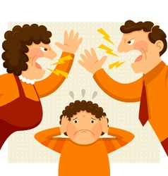 fighting parents vector image vector image