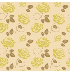 Green roses background seamless pattern vector image vector image