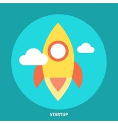 Start Up Rocket Icon vector image