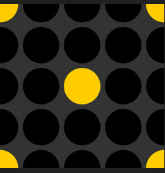 Tile patern with black and yellow polka dot vector