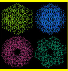 a set of four ornaments vector image