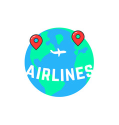 airlines like build a route vector image