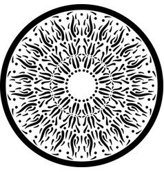 black outline mandala ornament intricate pattern vector image