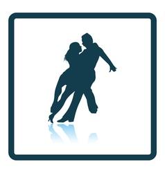Dancing pair icon vector image vector image