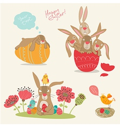 Hand-drawing pictures of Easter vector image vector image