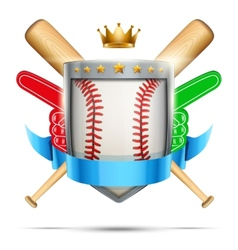 Label for baseball sport club or event Bright vector image
