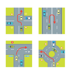 traffic conditions set vector image