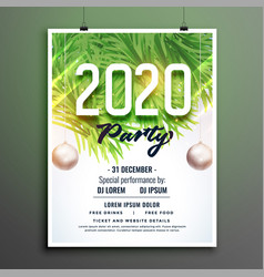 2020 party celebration new year flyer template vector image