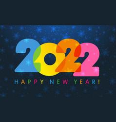 2022 new year card deep in blue bg vector