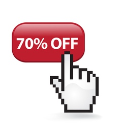 70 Off Button vector image