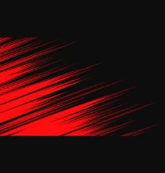 abstract red light speed dynamic on black vector image