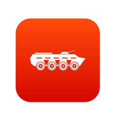 army battle tank icon digital red vector image