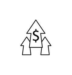 arrows up dollar icon element of finance signs vector image