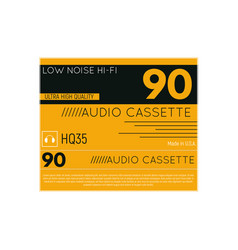 Audio cassette cover vector