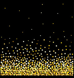 background with with gold confetti vector image