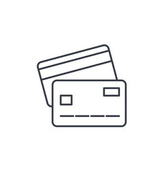 bank card thin line icon linear symbol vector image