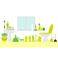 bathroom cleaning products vector image