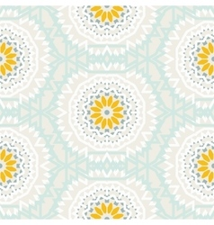 Bohemian pattern with big abstract flowers vector