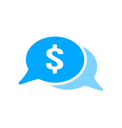 bubble chat dollar money icon vector image