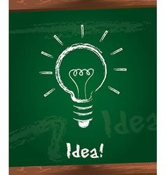 Bulb electric over chalkboard idea vector
