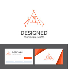 Business logo template for tent camping camp vector