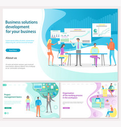 Business solution for development landing page vector