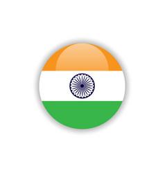 Button india flag template design vector