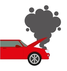 Car accident isolated icon design vector