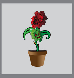 cartoon flower image vector image