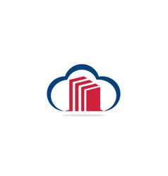 cloud building business logo vector image