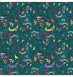 Colorful vintage pattern vector image