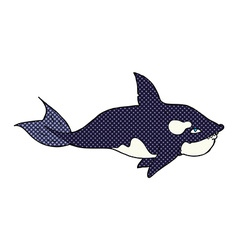 comic cartoon killer whale vector image